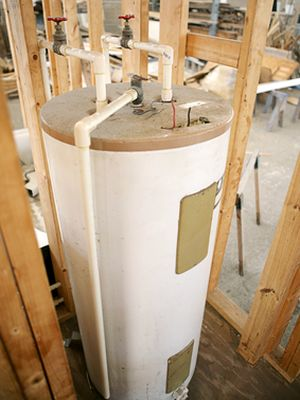 hot water heater wall
